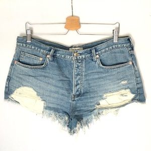We The Free People Distressed Jeans Shorts 31